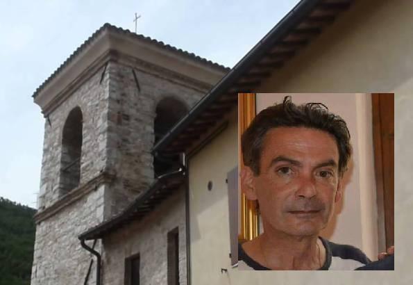 Serravalle del Chienti e nel riquadro, Fabrizio Cerreti (foto dal web)