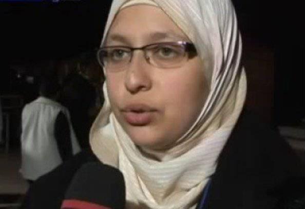 Sumaya Abdel Qader (ritaglio Youtube)