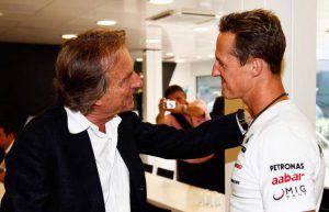 Luca Cordero di Montezemolo e Michael Schumacher (Photo by Hoch Zwei/Getty Images)