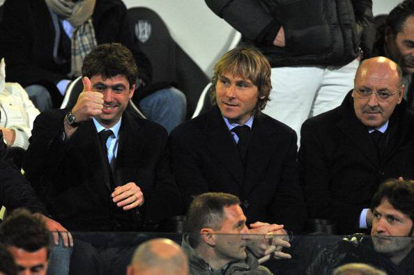 Agnelli-Marotta-Nedved  (Photo by Roberto Serra/Getty Images)