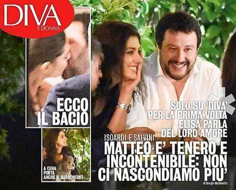 Matteo Salvini ed Elisa Isoardi  fonte Diva e Donna