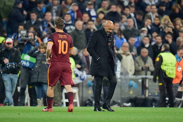 Totti-Spalletti (Photo by Luciano Rossi/AS Roma via Getty Images)