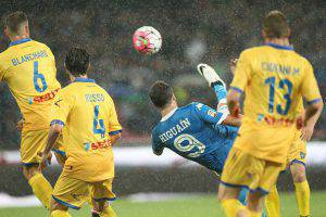 Napoli-Frosinone (Photo credit should read CARLO HERMANN/AFP/Getty Images)