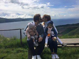 La famiglia di Michelle Hunziker (foto profilo Facebook)