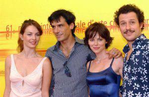 Violante Placido, Stefano Dionisio, Barbora Bobulova e Stefano Accorsi a (Photo by Franco Origlia/Getty Images)