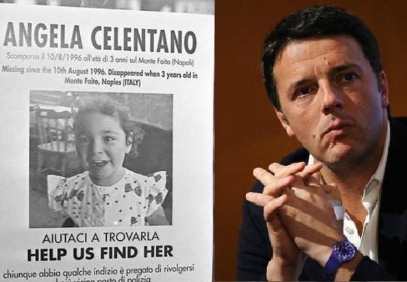 Angela Celentano e Matteo Renzi (foto dal web)