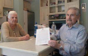 La coppia di anziani derubati della pensione (Web)