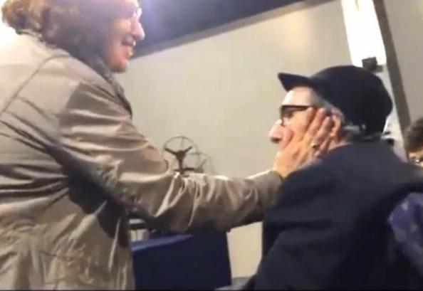 Francesco Nuti e l'abbraccio con Athina Cenci