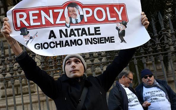 Contestazioni a Renzi (repertorio, TIZIANA FABI/AFP/Getty Images)