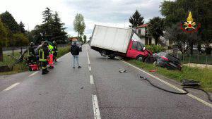 L'incidente sulla statale (foto dal web)