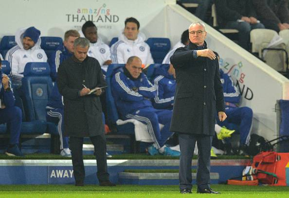 Jose Mourinho e Claudio Ranieri (PAUL ELLIS/AFP/Getty Images)
