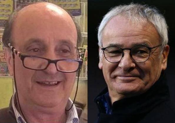 Elio Provenzano e Claudio Ranieri (foto dal web)