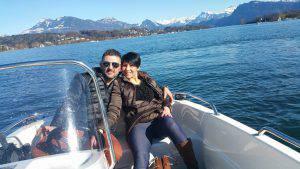 Salvatore Ciammaichella e la compagna Monia Desole (Facebook)