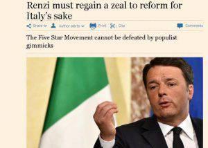 L'articolo del Financial Times su Renzi (screenshot)