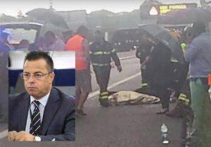 Incidente di Gianluca Buonanno (foto dal web)