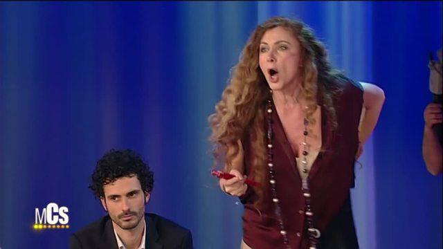 Eleonora Brigliadori al 'Costanzo Show'