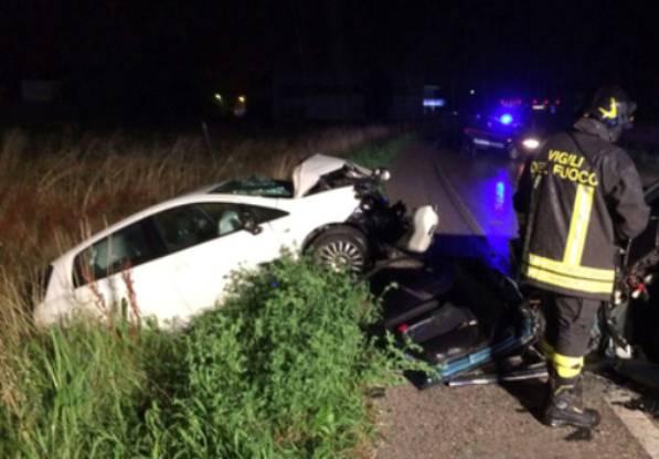 Scontro tra auto nel Vicentino: un morto e un ferito