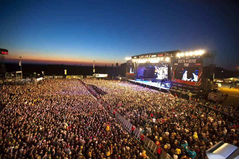 Fulmine su un concerto in Germania
