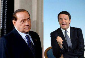 Berlusconi e Renzi (Filippo Monteforte/Afp/Getty Images)