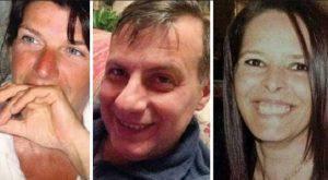 Il maresciallo Verde al centro con l'ex compagna Debora e la vittima Isabella Noventa (Web)