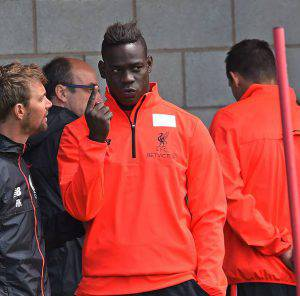Mario Balotelli  (Photo by John Powell/Liverpool FC via Getty Images)