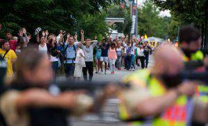 Panico a Monaco dopo la strage (AFP/Getty Images)