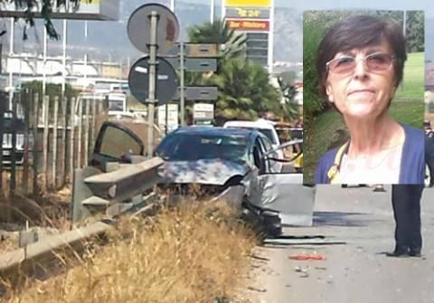 La scena dell'incidente e l'immagine della donna che ha peso la vita nello scontro (Web)