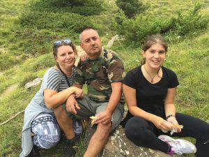 Giacomo Dell'Otto, la moglie Aura e la figlia Angela (Facebook)