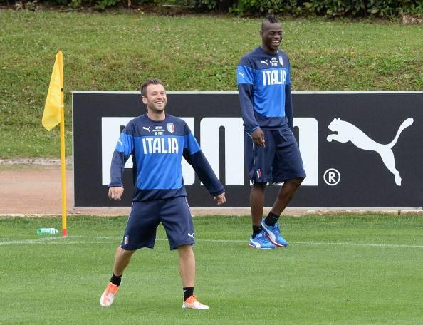 Antonio Cassano e Mario Balotelli (Photo by Claudio Villa/Getty Images)