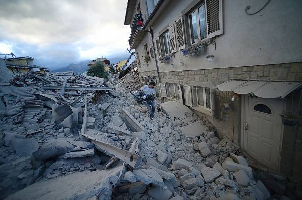 Amatrice (FILIPPO MONTEFORTE/AFP/Getty Images)