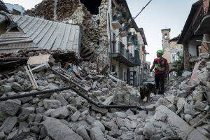 ACCUMOLI, RI, ITALY - 2016/08/24: A 6.0 magnitude earthquake devastated central Italy, several dead and wounded and several villages destroyed around Accumoli (Rieti). (Photo by Michele Amoruso/Pacific Press/LightRocket via Getty Images)