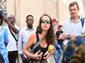 Veronica Padoan durante la manifestazione (Websource)