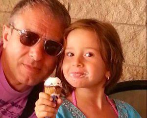 Carlo Chiodi e la figlia Angelica (Facebook)