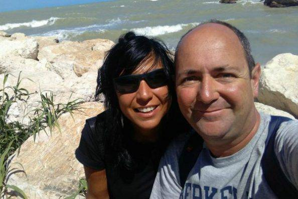 Paola Rascelli e il marito Fabrizio Trabalza (foto dal web)