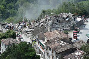 Macerie del terremoto nelle Marche (Giuseppe Bellini/Getty Images)