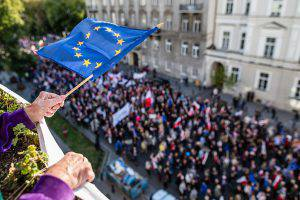Bandiera Europa (WOJTEK RADWANSKI/AFP/Getty Images)