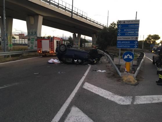 Incidente a Cagliari, morti tre giovani, due sono gravissimi