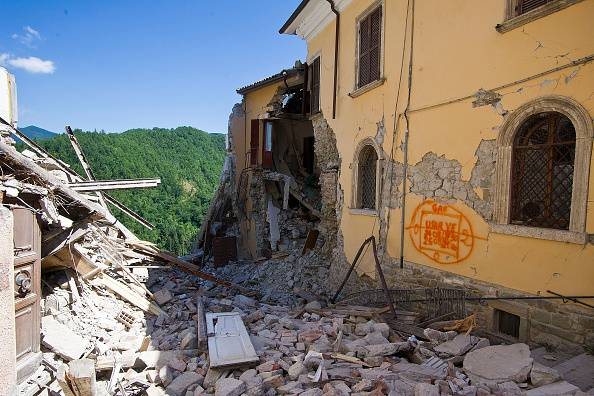 Terremoto ad Arquata del Tronto (Photo by Awakening/Getty Images)
