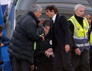 Jose Mourinho e Antonio Conte (Photo by Kieran Galvin/NurPhoto via Getty Images)