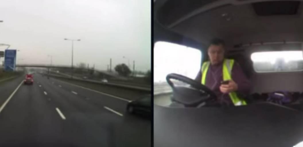 Sms alla guida, lo schianto è tremendo – VIDEO