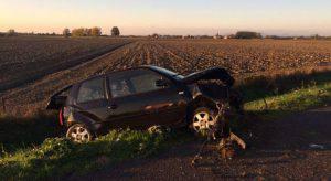 L'auto nella quale ha perso la vita Fausto Longati (Websource)