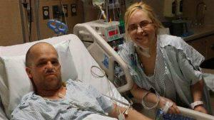 Heather insieme al suo donatore (Nbc News)
