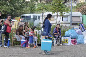 Campo nomadi di Roma (Websource/archivio)