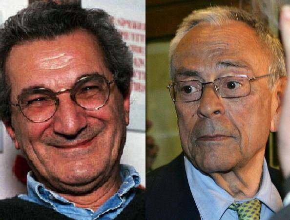 Toni Negri e Cesare Previti (foto dal web)