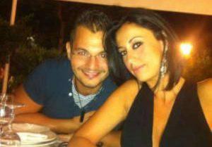 Valentina Milluzzo col marito (foto dal web)