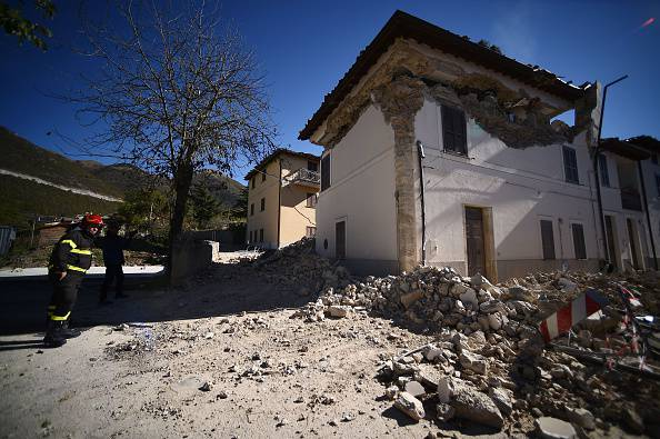 Terremoto (Photo credit should read FILIPPO MONTEFORTE/AFP/Getty Images)