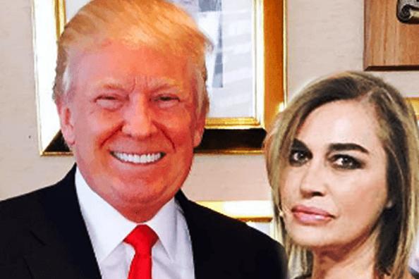 Donald Trump e Lory Del Santo (ritaglio web)