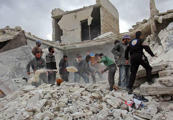 Le macerie di Aleppo (OMAR HAJ KADOUR/AFP/Getty Images)