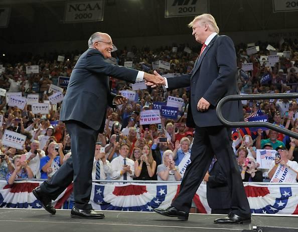 Rudolph Giuliani e Donald Trump (Sara D. Davis/Getty Images)
