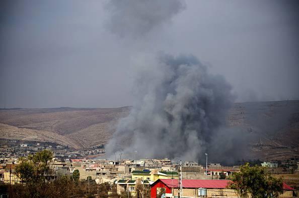 Mosul a ferro e fuoco (ODD ANDERSEN/AFP/Getty Images)